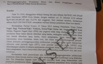 Mantan Plt Sekwan Membenarkan Temuan BPK Terkait Biaya Perjalanan Dinas Diduga Fiktip Puluhan Anggot
