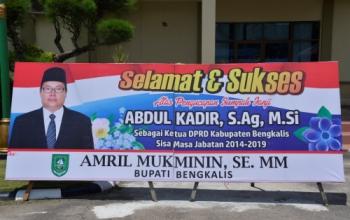 Senin, Abdul Kadir Dilantik Jadi Ketua DPRD Bengkalis