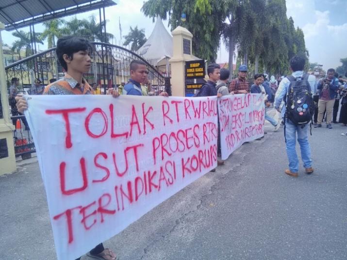 Dinilai Tidak Berkeadilan, Mahasiswa Tolak Pengesahan Ranperda RTRW