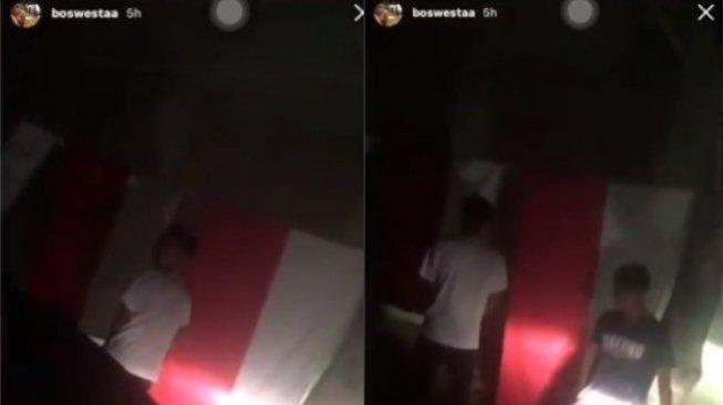[viral] 4 pemuda inhu riau ditangkap karena mengencingi bendera merah putih