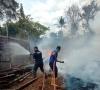 Kandang Kosong Milik Warga di Jorong Tabek Panjang Dilalap Api