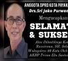 Ucapan Selamat dari Keluarga Besar Drs, Sri Joko Purwanto Anggota DPRD Kota Payakumbuh untuk Wakapolres 50 Kota Kompol Rissirwan, SH.