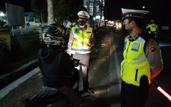 Satlantas Polres LimaPuluh Kota Gencarkan Penertiban Lalu Lintas dan Protokol Kesehatan di Bulan Ramadan